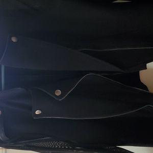 Black with sheer sleeves Moto